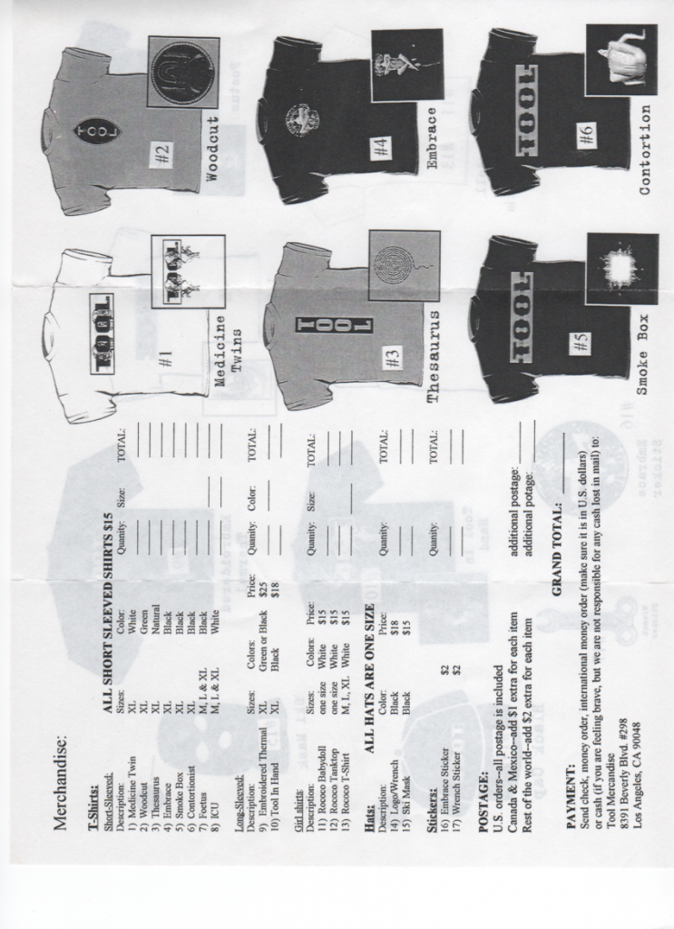 ool Merchandise Form #2 (Back)